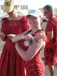 B2 Red Dress