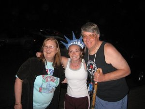 Lady Liberty welcums our guests